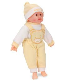 Smiles Creation Happy Baby Doll Dark Cream - Height 36 cm