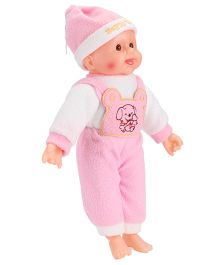 Smiles Creation Baby Doll Doggy Print Pink - 36 cm