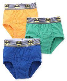 Batman Printed Briefs Pack Of 3 - Blue Yellow Green