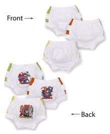 Justice League Printed Briefs Set Of 3 - White