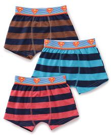 Justice League Briefs Pack Of 3 - Pink Blue Brown
