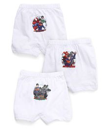 Justice League Boxer Shorts Pack of 3 - White