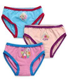 Barbie Panties Pack of 3 - Pink Sky Blue Cream