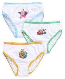 Barbie Panties Pack of 3 - Sky Blue Green Yellow