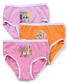 Barbie Panties Printed Pack of 3 - Pink Orange
