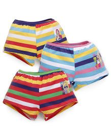 Barbie Stripes Bloomers Printed - Yellow Blue Red