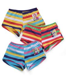 Barbie Stripes Bloomers Printed - Yellow Red Blue