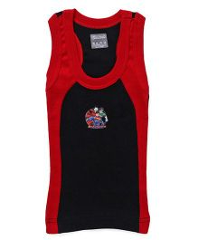Justice League Sleeveless Vest - Red Black