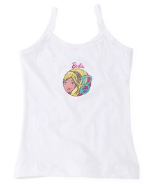 Barbie Printed Singlet Slip - White
