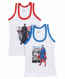 Justice League Sleeveless Vest Set of 2 - White Red Blue