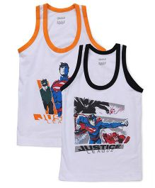 Justice League Sleeveless Vest Set of 2 - Orange & Black