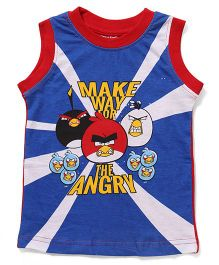 Angry Birds Printed Sleeveless T-Shirt - Blue