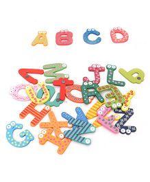 Tickles Wooden Alphabet Educational Fridge Magnets - Multicolor