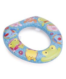 Babyhug Cushioned Potty Seat Animal Print - Blue