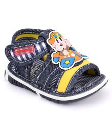 Cute Walk by Babyhug Sandals Velcro Closure Cartoon Face Patch - Navy