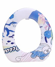 Babyhug Cushioned Potty Seat Ocean Print - Blue White