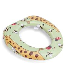 Babyhug Cushioned Potty Seat Giraffe Print - Green Yellow