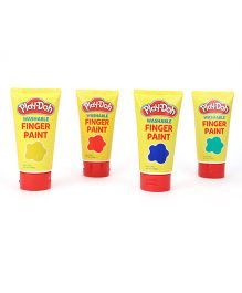 Play Doh Washable Finger Paints - Pack Of 4