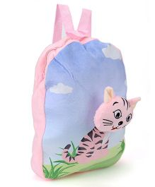 Dimpy Stuff Cat Soft Toy Backpack - 13 Inches