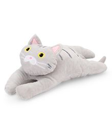 Dimpy Stuff Super Soft Comfy Lying Cat Grey - 45 cm