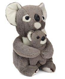 Dimpy Stuff Comfy Super Soft Koala With Baby Grey