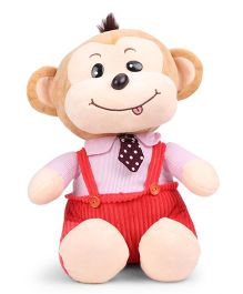 Dimpy Stuff Monkey With Dangri Soft Toy Red - 33 cm