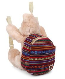 Starwalk Plush Teddy Bear With Backpack Beige - 14 Inches