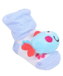 Cute Walk By Babyhug Sock Shoes Fish Motif - Blue