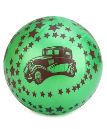 Kids Ball Car And Star Print  - Green