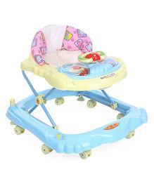 Toyzone Baby Walker Animals Print - Blue Pink