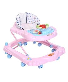 Toyzone Baby Walker Teddy And Print - Pink