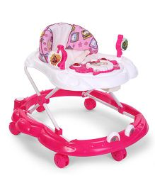 Toyzone Baby Walker Elephant Print - Pink White