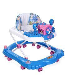 Toyzone Baby Walker Elephant Print - Blue & White