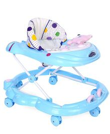Toyzone Musical Baby Walker Big Dots Print - Blue