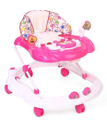 Toyzone Baby Walker Floral Print - White Pink