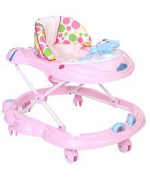 Toyzone Musical Baby Walker Big Dots Print - Pink