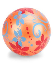 Kids Ball Floral Design - Orange Blue Red