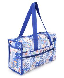 1st Step Diaper Bag With Bottle Warmer Teddy Print - Blue