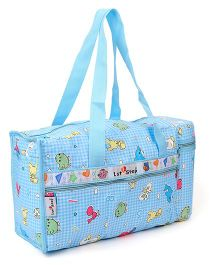 1st Step Diaper Bag With Insulated Bottle Holder Multi Print - Blue