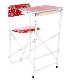 New Natraj Prestige Baby Study Desk Bear Print - Red