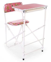 New Natraj Prestige Baby Study Desk Checks Print - Red