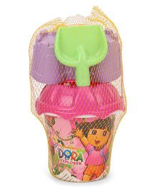 Dora Small Bucket Beach Set 5 Pieces - Purple Pink