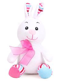Dimpy Stuff Bunny Soft Toy Pink And White - 21 cm