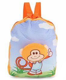 Dimpy Stuff Soft Nursery Bag With Monkey Print Yellow - 13 Inches