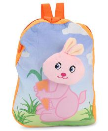 Dimpy Stuff Soft Nursery Bag With Rabit Print Yellow - 13 Inches