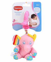 Tiny Love Tiny Smarts Elsie Elephant Clip On Toy Pink - 11 cm