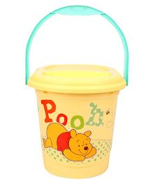 Disney International Winnie The Pooh Nappy Bin With Lid - Yellow