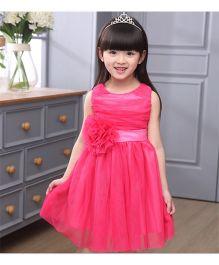 Tickles 4 U Tie Detail Dress - Pink