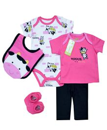 Tickles 4 U 5 Piece Attractive Infant Set - Pink