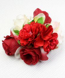 Asthetika Flower Bunch Hair Clip - Red
